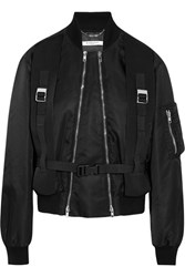 Givenchy Canvas Trimmed Shell Bomber Jacket Black