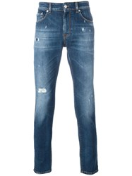 Versus Ripped Skinny Jeans Blue