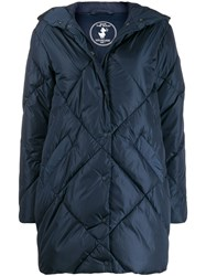 Save The Duck Padded Hooded Coat Blue