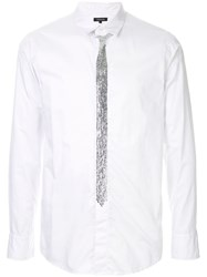 Loveless Embellished Fitted Shirt White