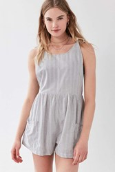 Cooperative Rainy Drop Armhole Romper Black And White