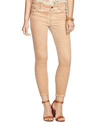 Lauren Ralph Lauren Faded Skinny Jeans In Rose Wash