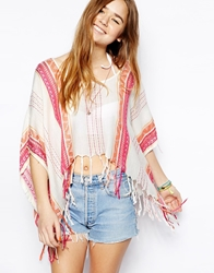 All About Eve Sunset Fringe Top Sunsetstripe
