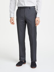 John Lewis Made In Italy Sharkskin Super 120S Wool Tailored Trousers Charcoal