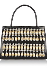 Nancy Gonzalez Embellished Glossed Crocodile Tote