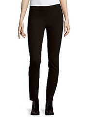 Max Studio Solid Tapered Leggings Black
