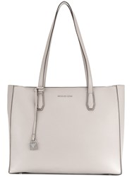 Michael Kors Square Tote Bag Leather Grey
