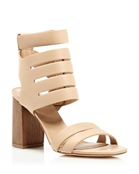 Vince Sandals Freida Multi Band High Heel Nude Wood