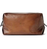 Berluti Doudou Gm Polished Leather Wash Bag Brown