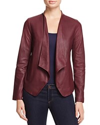 Bb Dakota Wyden Harper Draped Leather Jacket Aubergine
