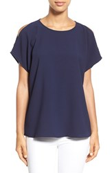 Women's Gibson Cold Shoulder Blouse Navy