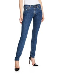 Burberry Scotton Mid Rise Skinny Fit Jeans Blue