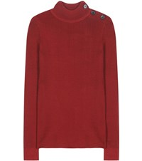 Etoile Isabel Marant Destiny Knitted Turtleneck Sweater Red