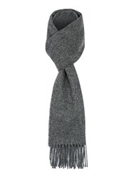 Paul Costelloe Lombard Brushed Lambswool Scarf Charcoal