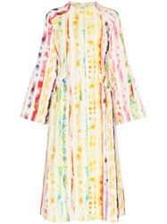 Rosie Assoulin Watercolour Effect Coat Dress 925 925 Multi Watercolor