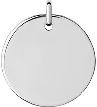 Links Of London Narrative Sterling Silver Large Round Disc Pendant