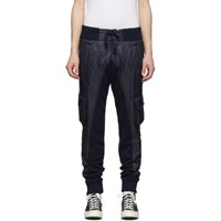 Greg Lauren Navy Paul And Shark Edition Quilted Cargo Pants