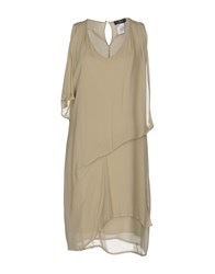 Jei O O' Knee Length Dresses Beige