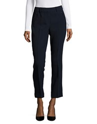 Karl Lagerfeld Cropped Straight Leg Pants Blue