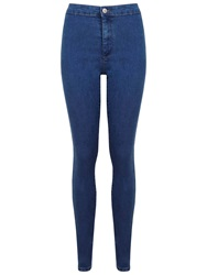 Miss Selfridge Super High Waist Jeans Mid Wash Denim
