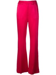 Adeam High Waisted Flared Trousers Pink