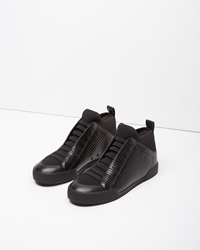 3.1 Phillip Lim Quilted Morgan High Top Sneaker Black