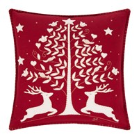 Jan Constantine Folklore Deer And Tree Cushion