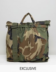 Reclaimed Vintage Camo Tote Bag Green