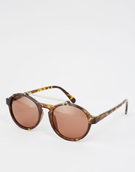 A. J. Morgan Aj Morgan Round Sunglasses In Brown Brown