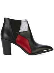 Diesel Colour Block Ankle Boots Black