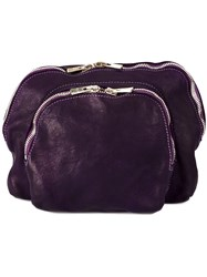 Guidi Multi Functional Clutch Bag Pink And Purple