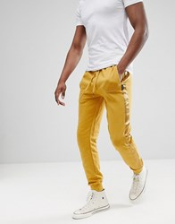 D Struct Jogger With Satin Leg Stripe Gold
