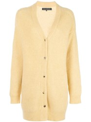 Sally Lapointe Ribbed Knit Cardigan Yellow