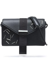 Christopher Kane Embellished Textured Leather Shoulder Bag Black