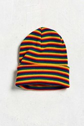 Urban Outfitters Rainbow Stripe Beanie Assorted