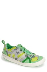 Men's Adidas 'Climacool Boat Lace' Water Shoe Semi Flash Green Chalk Grey