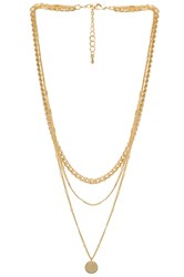 8 Other Reasons Abbey Necklace Metallic Gold