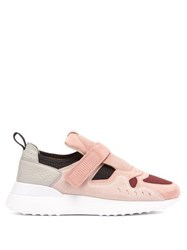 Tod's Exaggerated Sole Suede Trainers Pink