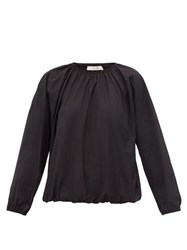 The Row Rain Technical Poplin Blouse Black