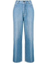 Golden Goose Deluxe Brand High Waisted Jeans Blue