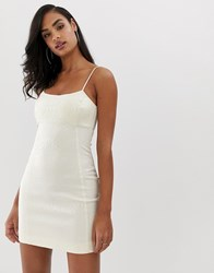 Bec And Bridge Zebre Mini Dress Cream