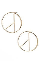 Sole Society Women's 'Linear Hoop' Earrings