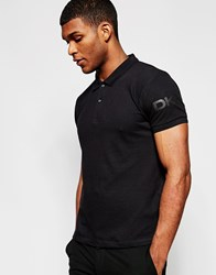 Dkny Polo Shirt Sleeve Logo Black