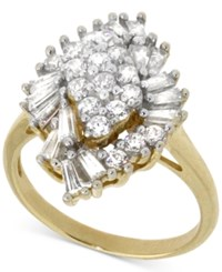 Wrapped In Love Diamond Cluster Ring 1 Ct. T.W. In 14K Gold Yellow Gold