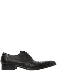 Jo Ghost 20Mm Leather And Python Derby Shoes Black