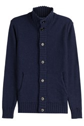 Baldessarini Virgin Wool Cardigan Blue