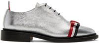 Thom Browne Silver Wholecut Bow Oxfords