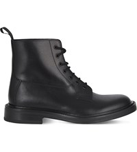 Sandro Squadron Leather Boots Black