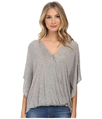 Culture Phit Katie Butterfly Arm Top Heather Grey Women's Clothing Gray