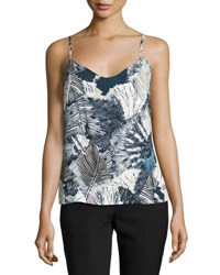 French Connection Lala Palm Print Camisole Multi Pattern